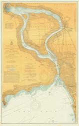 Upper Niagara River 1904 Lake Erie Harbor Chart Reprint 312