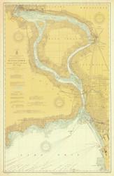 Upper Niagara River 1910 Lake Erie Harbor Chart Reprint 312