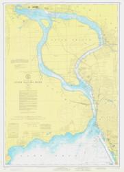 Upper Niagara River 1974 Lake Erie Harbor Chart Reprint 312