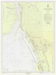 Buffalo Harbor 1959 Lake Erie Harbor Chart Reprint 314