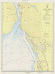 Buffalo Harbor 1961 Lake Erie Harbor Chart Reprint 314