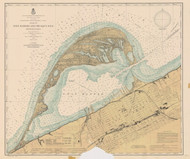 Erie Harbor 1901 Lake Erie Harbor Chart Reprint 332
