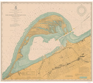 Erie Harbor 1903 Lake Erie Harbor Chart Reprint 332