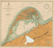Erie Harbor 1907 Lake Erie Harbor Chart Reprint 332