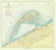 Erie Harbor 1941 Lake Erie Harbor Chart Reprint 332