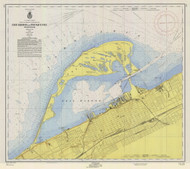 Erie Harbor 1956 Lake Erie Harbor Chart Reprint 332