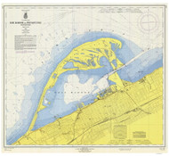 Erie Harbor 1965 Lake Erie Harbor Chart Reprint 332
