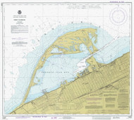Erie Harbor 1977 Lake Erie Harbor Chart Reprint 332