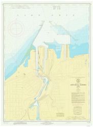 Ashtabula Harbor 1971 Lake Erie Harbor Chart Reprint 342