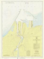Ashtabula Harbor 1974 Lake Erie Harbor Chart Reprint 342