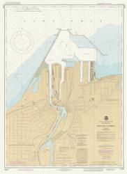 Ashtabula Harbor 1985 Lake Erie Harbor Chart Reprint 342