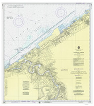 Cleveland Harbor 1975 Lake Erie Harbor Chart Reprint 354
