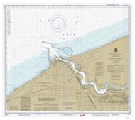 Huron Harbor 1981 Lake Erie Harbor Chart Reprint 357