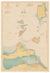 Islands in Lake Erie 1943 Lake Erie Harbor Chart Reprint 364