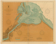 Toledo Harbor 1902 Lake Erie Harbor Chart Reprint 374