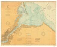 Toledo Harbor 1910 Lake Erie Harbor Chart Reprint 374