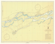 St. Regis to Croil Islands 1946 St Lawrence River Nautical Chart Reprint 11b NY/Ontario
