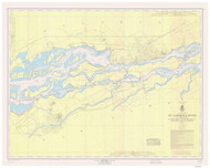 St. Regis to Croil Islands 1962 St Lawrence River Nautical Chart Reprint 11b NY/Ontario