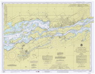 St. Regis to Croil Islands 1977 St Lawrence River Nautical Chart Reprint 11b NY/Ontario