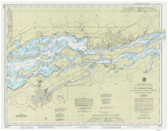 St. Regis to Croil Islands 1988 St Lawrence River Nautical Chart Reprint 11b NY/Ontario