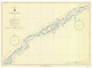 Croil Islands to Leishman Point 1937 St Lawrence River Nautical Chart Reprint 12a NY/Ontario