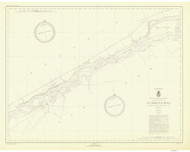 Croil Islands to Leishman Point 1946 St Lawrence River Nautical Chart Reprint 12b NY/Ontario