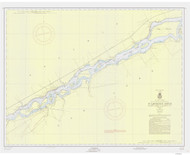 Croil Islands to Leishman Point 1956 St Lawrence River Nautical Chart Reprint 12b NY/Ontario