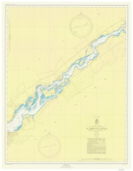 Leishman Point to Ogdensburg 1949 St Lawrence River Nautical Chart Reprint 13 NY/Ontario
