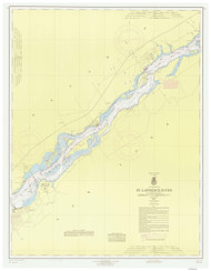 Leishman Point to Ogdensburg 1966 St Lawrence River Nautical Chart Reprint 13 NY/Ontario