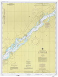 Leishman Point to Ogdensburg 1977 St Lawrence River Nautical Chart Reprint 13 NY/Ontario