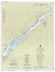 Leishman Point to Ogdensburg 1988 St Lawrence River Nautical Chart Reprint 13 NY/Ontario