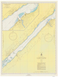 Ogdensburg to Brockville 1949 St Lawrence River Nautical Chart Reprint 14 NY/Ontario