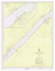 Ogdensburg to Brockville 1956 St Lawrence River Nautical Chart Reprint 14 NY/Ontario