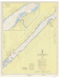 Ogdensburg to Brockville 1965 St Lawrence River Nautical Chart Reprint 14 NY/Ontario