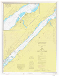 Ogdensburg to Brockville 1974 St Lawrence River Nautical Chart Reprint 14 NY/Ontario