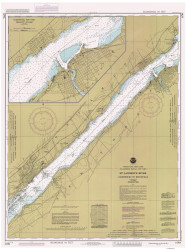 Ogdensburg to Brockville 1985 St Lawrence River Nautical Chart Reprint 14 NY/Ontario