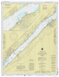 Ogdensburg to Brockville 1998 St Lawrence River Nautical Chart Reprint 14 NY/Ontario