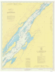 Holmes Point to Deer Island 1971 St Lawrence River Nautical Chart Reprint 15 NY/Ontario