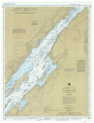 Holmes Point to Deer Island 1982 St Lawrence River Nautical Chart Reprint 15 NY/Ontario