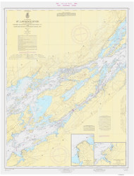 Whiskey Island to Bartlett Point 1966 St Lawrence River Nautical Chart Reprint 16 NY/Ontario