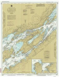 Whiskey Island to Bartlett Point 1986 St Lawrence River Nautical Chart Reprint 16 NY/Ontario