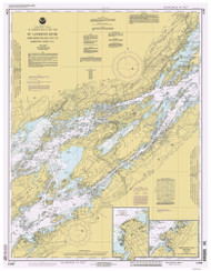 Whiskey Island to Bartlett Point 1993 St Lawrence River Nautical Chart Reprint 16 NY/Ontario