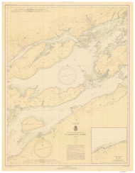 Bartlett Point to Cape Vincent 1938 St Lawrence River Nautical Chart Reprint 17 NY/Ontario