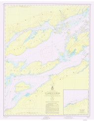 Bartlett Point to Cape Vincent 1956 St Lawrence River Nautical Chart Reprint 17 NY/Ontario