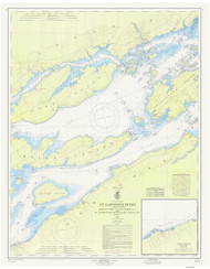 Bartlett Point to Cape Vincent 1965 St Lawrence River Nautical Chart Reprint 17 NY/Ontario
