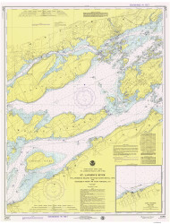 Bartlett Point to Cape Vincent 1975 St Lawrence River Nautical Chart Reprint 17 NY/Ontario