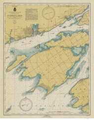 Cape Vincent to Allan Otty Shoal 1946 St Lawrence River Nautical Chart Reprint 18 NY/Ontario