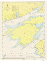 Cape Vincent to Allan Otty Shoal 1956 St Lawrence River Nautical Chart Reprint 18 NY/Ontario