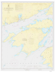 Cape Vincent to Allan Otty Shoal 1965 St Lawrence River Nautical Chart Reprint 18 NY/Ontario