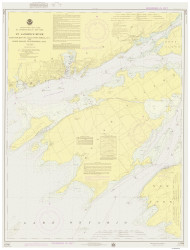 Cape Vincent to Allan Otty Shoal 1975 St Lawrence River Nautical Chart Reprint 18 NY/Ontario